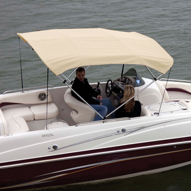 """Shademate Bimini Top Polyester Fabric and Boot Only, 4-Bow 8'L, 42""""H, 79""""-84""""W image number 5"""