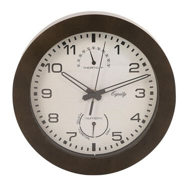 """Wall Clock with Thermometer and Humidity, 10"""""""