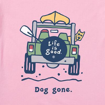 Life Is Good Women's Rocket Dog Gone Vintage Short-Sleeve Crusher Tee