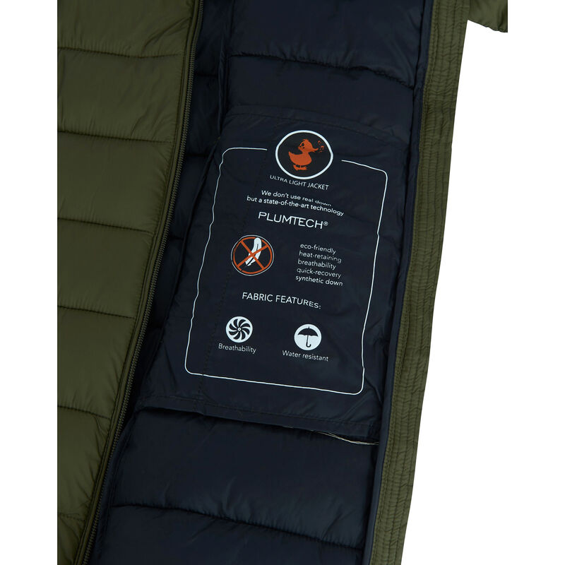 Save The Duck Women's Giga Long Quilted Winter Coat image number 8