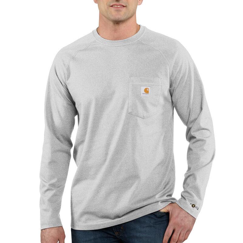 Carhartt Men's Force Cotton Delmont Long-Sleeve T-Shirt image number 5