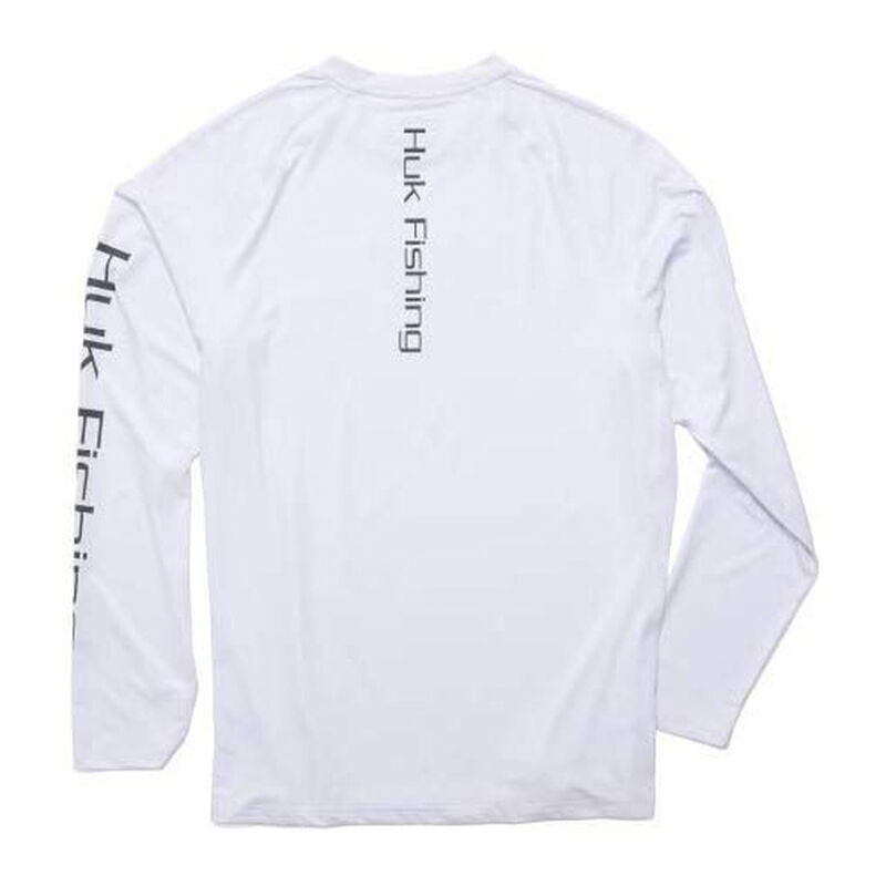 HUK Men's American Pitch Pursuit Long-Sleeve Tee image number 2