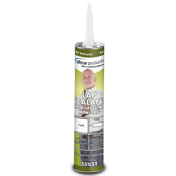 Non-Sag Lap Sealant, 10.3 oz. tube - Tan