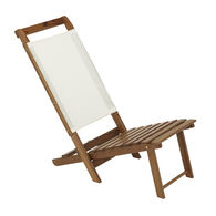 Whitecap Teak Everyday Chair with White Batyline Fabric