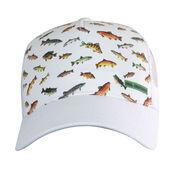 Reel Obsession Men's Downstream Fish Print Trucker Hat