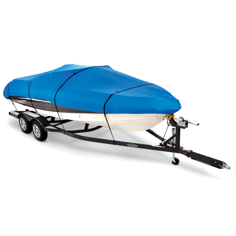 """Covermate Imperial Pro Euro-Style V-Hull I/O Boat Cover, 21'5"""" max. length Blue image number 1"""