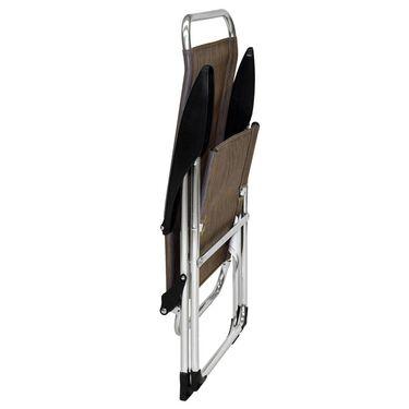 Lightweight Adjustable Folding Arm Chair