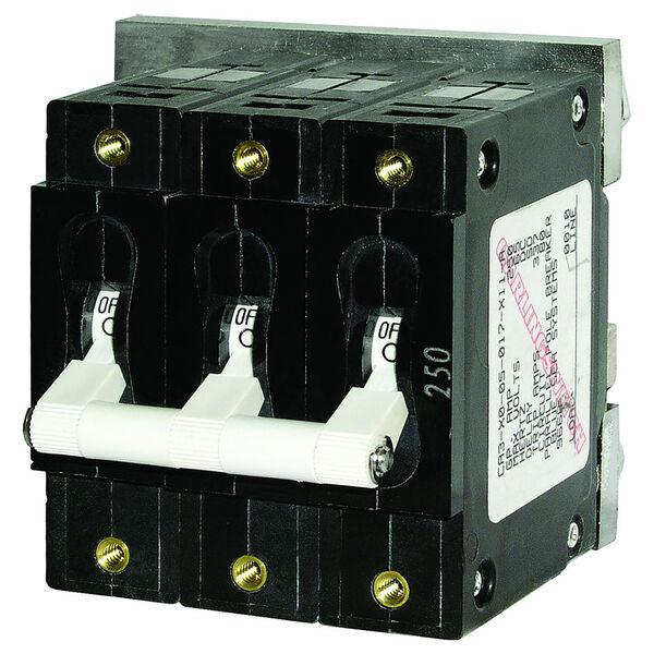 Blue Sea AC Circuit Breaker C-Series Toggle Switch, Triple Pole, 60A