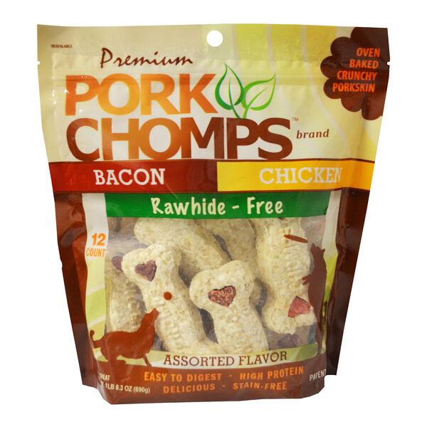 Pork Chomps Crunchy Bone Variety, 12ct
