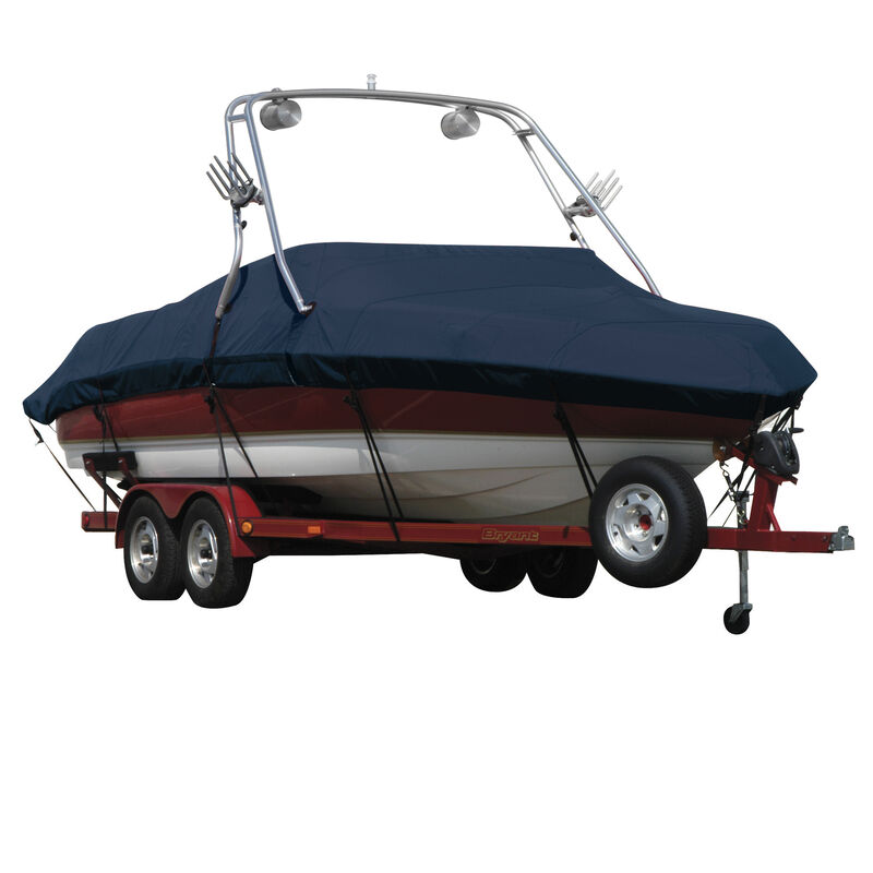 Exact Fit Covermate Sunbrella Boat Cover For CORRECT CRAFT AIR NAUTIQUE 206 COVERS PLATFORM w/BOW CUTOUT FOR TRAILER STOP image number 4