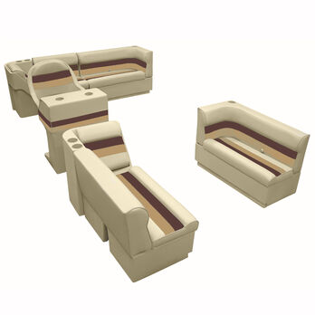 Deluxe Pontoon Seats w/Toe Kick Base, Complete Package A Plus Stand, Sand/Ch/Gol