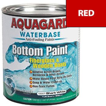 Aquaguard Waterbase Anti-Fouling Bottom Paint, Quart, Red