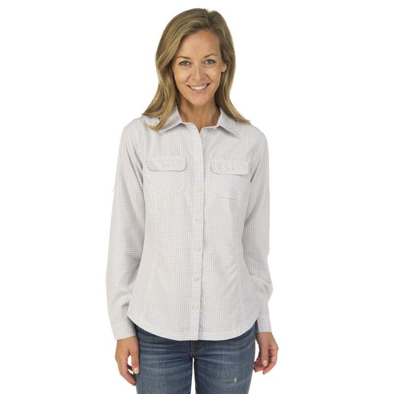 Ultimate Terrain Women's Trailhead Bug Repel Long-Sleeve Plaid Shirt image number 8