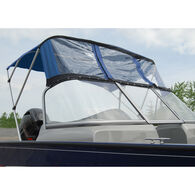 Bimini Top For Deep V Aluminum Fishing Boat w/Walk-Thru Windshield, 2 Bow 67-72W