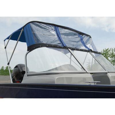 Bimini Top For Deep V Aluminum Fishing Boat w/Walk-Thru Windshield, 2 Bow 67-72W