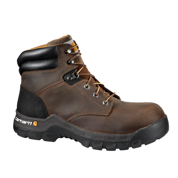 Carhartt Men's Waterproof Oxford Romeo Black Leather Slip-On Work Boot