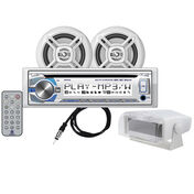 """Dual MCP420GH CD/USB/MP3/WMA Bluetooth Receiver With Two 6.5"""" Speakers"""