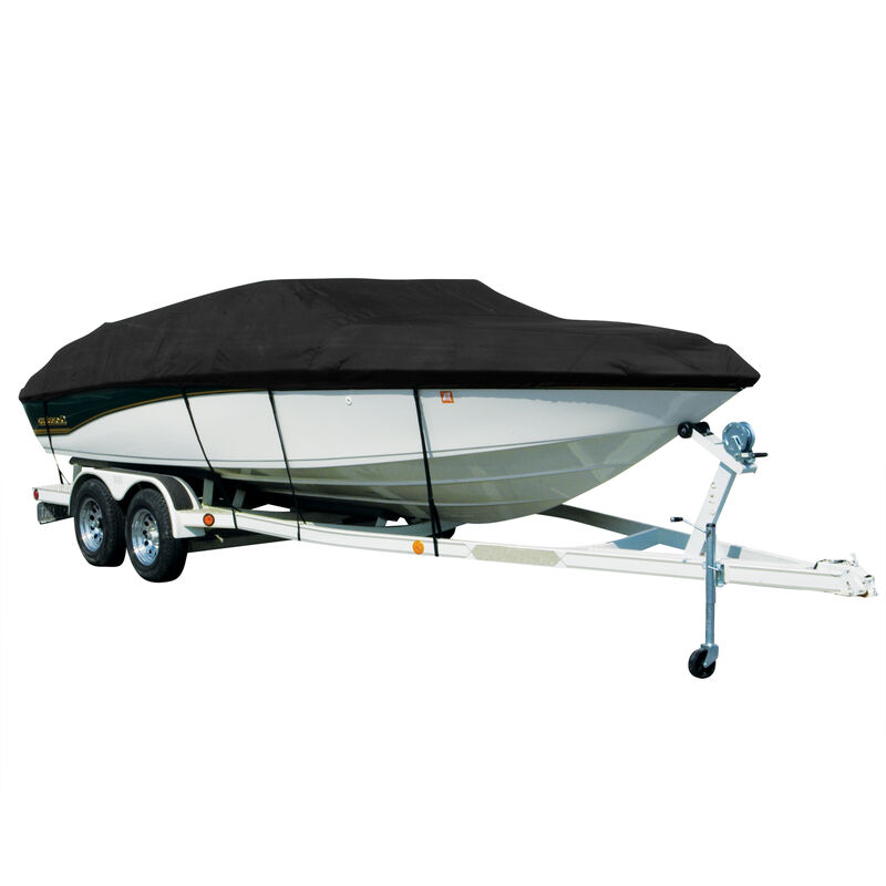 Covermate Sharkskin Plus Exact-Fit Cover for Tracker Party Barge 24 Dl Party Barge 24 Dl Square Front O/B image number 1