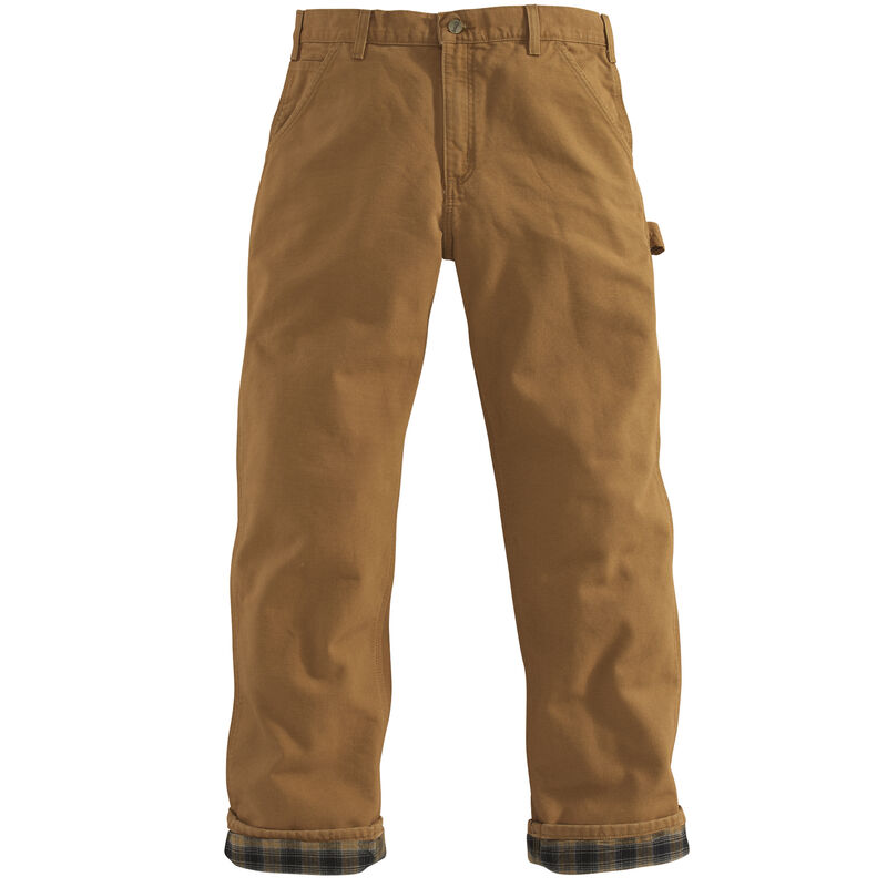 Carhartt Men's Washed Duck Flannel-Lined Dungaree Pant image number 9
