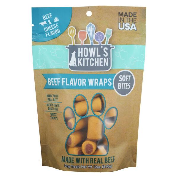 Howl's Kitchen Training Soft Bites, Beef Flavor Wraps