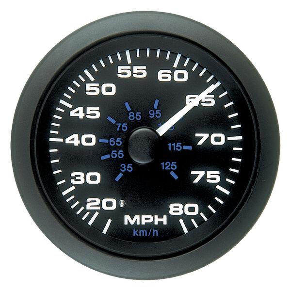 """Sierra Black Premier Pro 3"""" Speedometer, 80 MPH"""