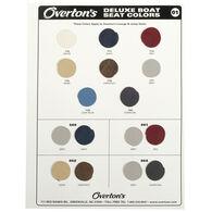 Overton's Deluxe Boat Seat Vinyl Sample Swatch Card