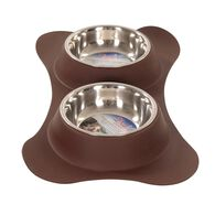 Dolce Flex Diners Pet Bowl, Chocolate