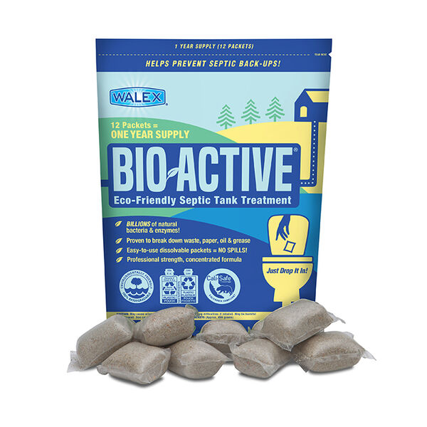 Walex Bio-Active Eco-Friendly Septic Tank Treatment, 12 packets