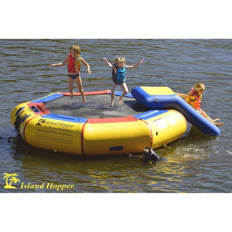 Island Hopper 10' Bounce-N-Splash Bouncer With Slide image number 1