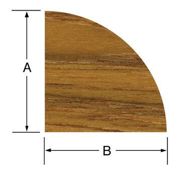 SeaForce Teak Large Quarter Round Molding, 5' long