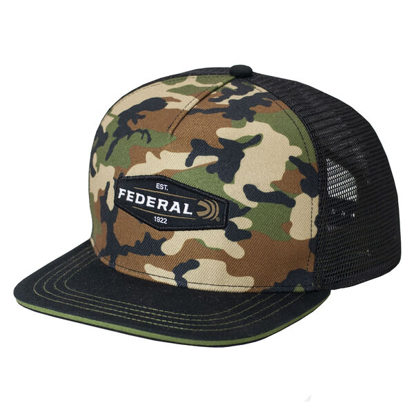 Federal Ammunition Men's Camouflage Trucker Cap with Flat Brim