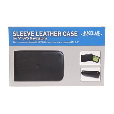 Leather Sleeve Case for GPS - 5""
