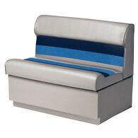"Toonmate Deluxe Pontoon 27"" Wide Lounge Seat with Toe Kick Base, Gray"