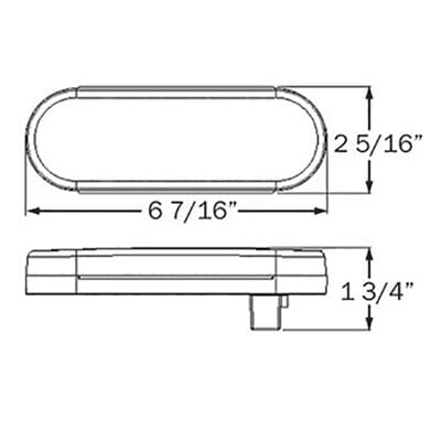 """Optronics 6"""" Oval LED Trailer Stop/Turn/Tail Light"""