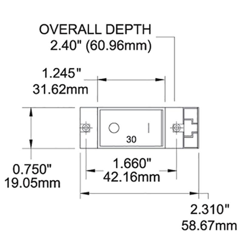 Blue Sea AC/DC Circuit Breaker A-Series Flat Rocker Switch, Single Pole, 10A image number 2