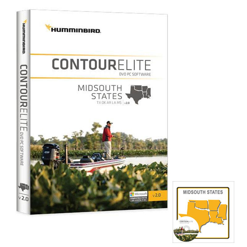 Humminbird Contour Elite Software, Mid-South States image number 1