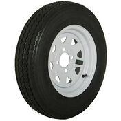Tredit H188 5.30 x 12 Bias Trailer Tire, 4-Lug Spoke White Rim