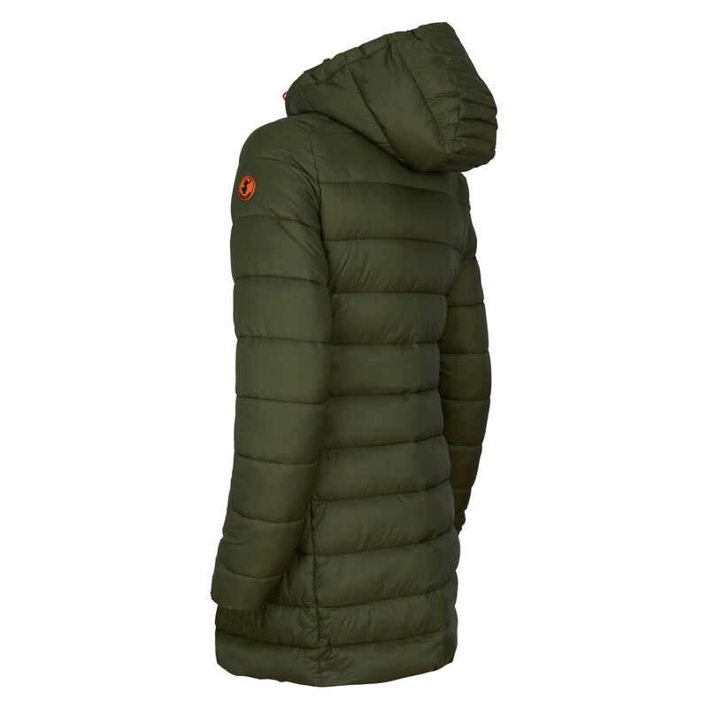 Save The Duck Women's Giga Long Quilted Winter Coat image number 4