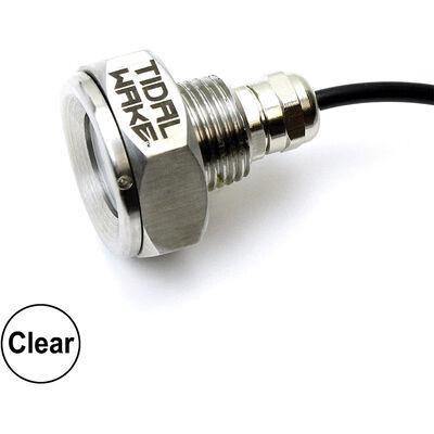 "Tidal Wake Underwater LED Boat Drain Plug Light – Plug N' Play, 1/2"" Thread, Clear"
