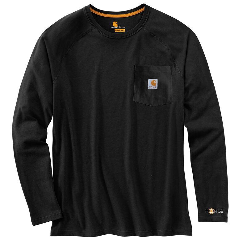 Carhartt Men's Force Cotton Delmont Long-Sleeve T-Shirt image number 10