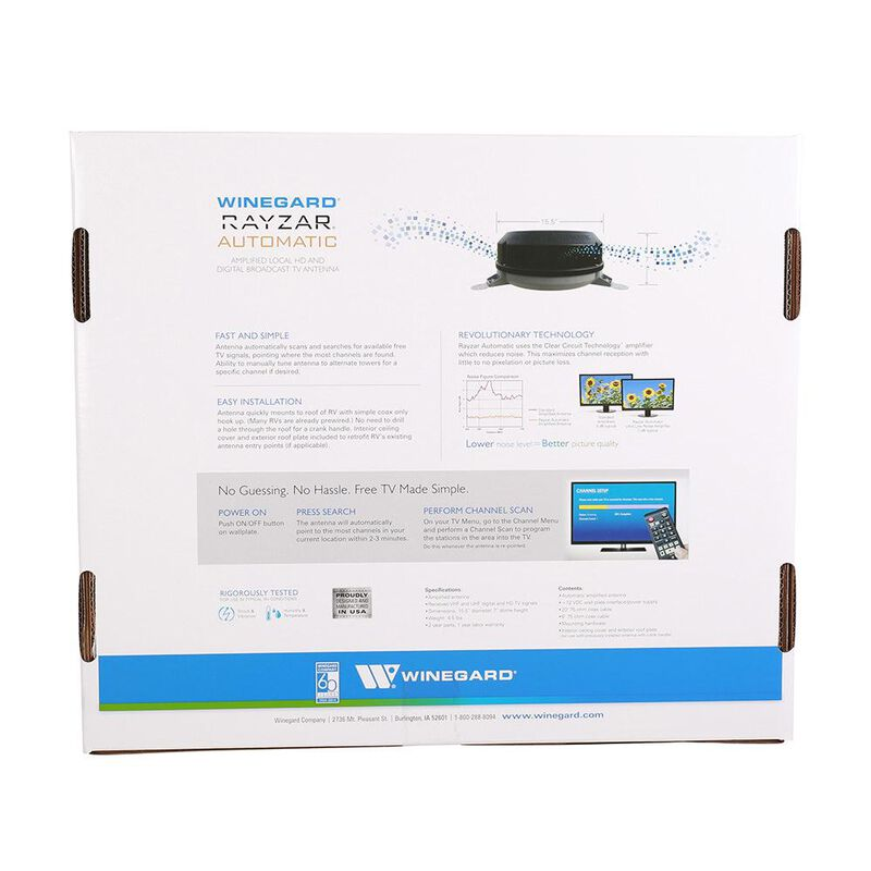 Rayzar Automatic Amplified HD TV Antenna image number 3