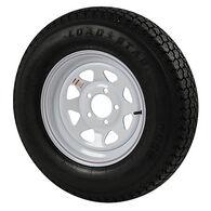 Kenda Loadstar 4.80 x 12 Bias Trailer Tire w/5-Lug White Spoke Rim