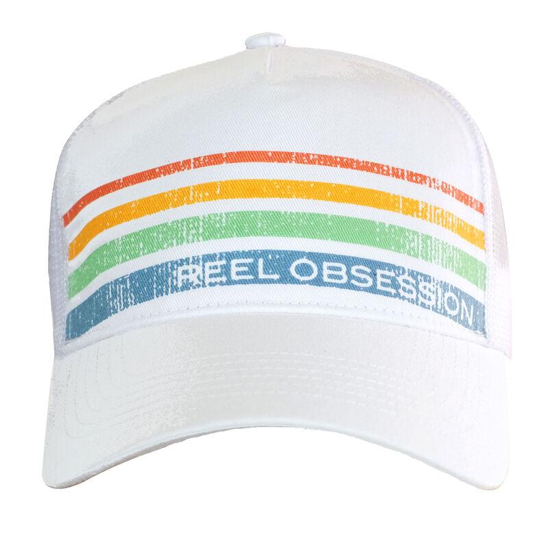 Reel Obsession Men's Vintage Stripe Trucker Hat image number 1