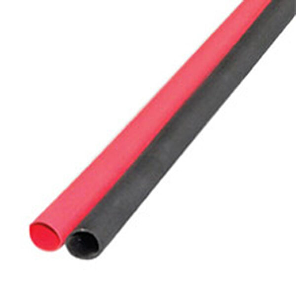 """Ancor Adhesive-Lined Heat Shrink Tubing, 12-8 AWG, 3"""" L, 1-Pk., Black/Red"""