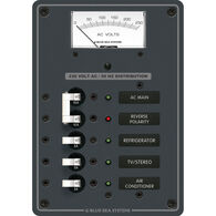 Blue Sea Systems Panel, 230V AC (European), AC Main + 3 Positions and Voltmeter