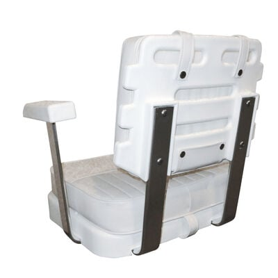 Wise Ladder Back Helm Chair Only w/Seat, Cushions, and Universal Mounting Plate