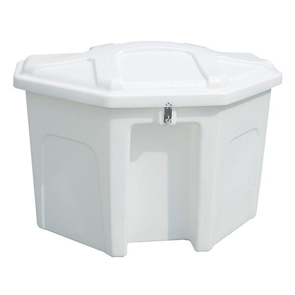 "Triangle Dock Box White 50""L x 32"" W x 36"" H"