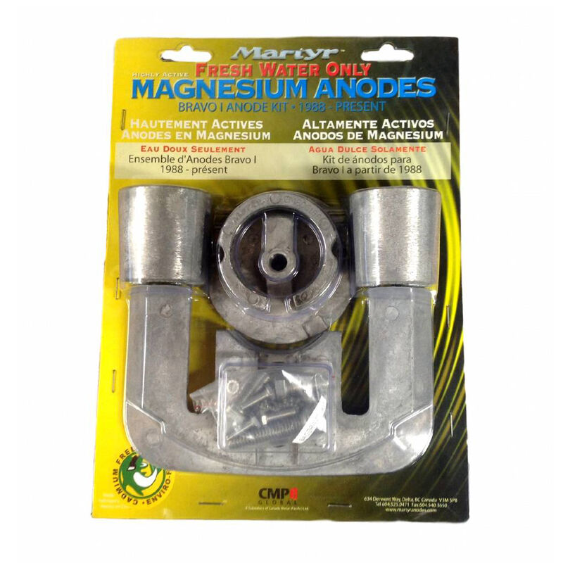 Martyr Mercury Anode Kit for Bravo I Engines, 1988-Present - Magnesium image number 1