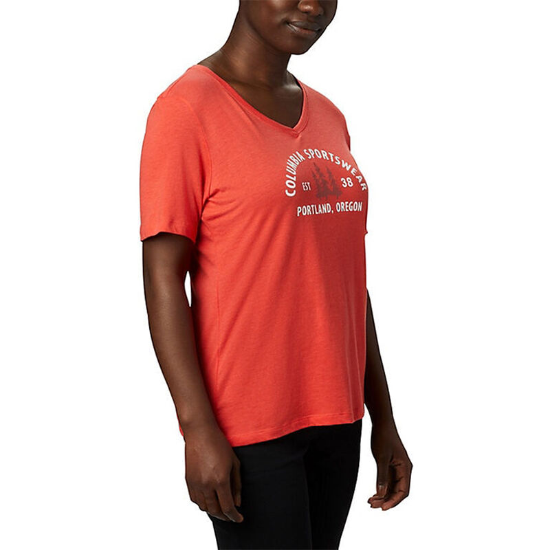 Columbia Women's Mount Rose Relaxed-Fit Short-Sleeve Tee image number 3