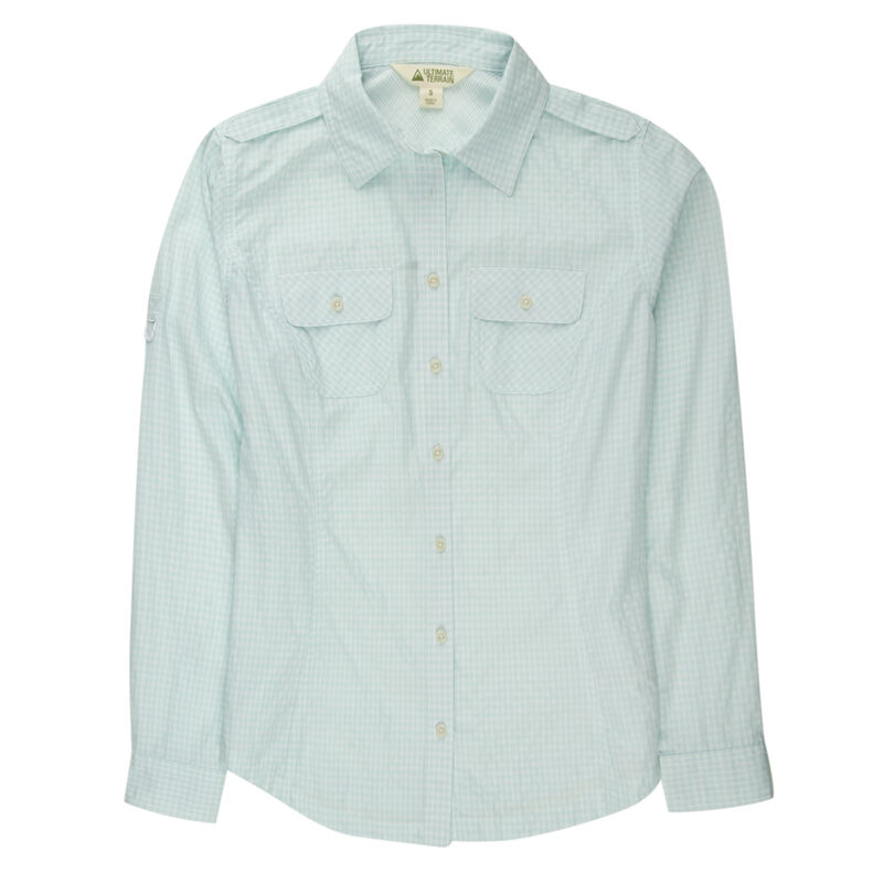 Ultimate Terrain Women's Trailhead Bug Repel Long-Sleeve Plaid Shirt image number 17